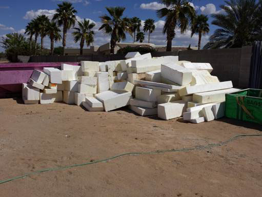 The Perfect Block Process Recycle Raw Recycled Expanded Polystyrene (EPS)