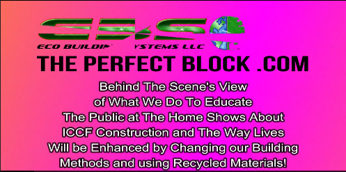 behind the scene view educate public home shows about ICCF construction way lives enhanced changing building methods using recycled materials